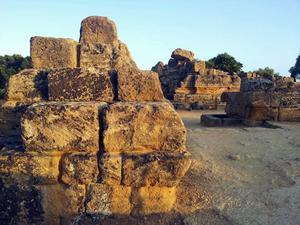 Rester av Zeus tempel, Agrigento.