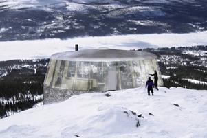 Fotomontage av hur skybaren på Hovärkens topp kommer att se ut.