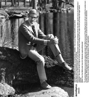 Carl Bildt som ung politiker.