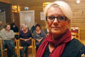 Yvonne Oscarsson berättade ärligt och öppet om sitt liv för det 40-talet kvinnor som kom till kvinnokvällen.