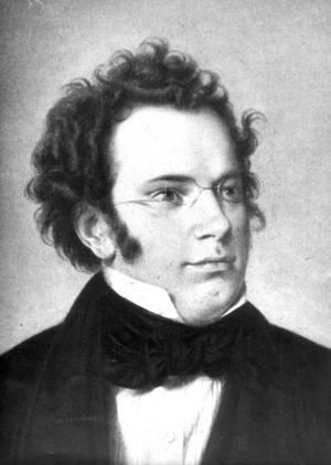 Kompositören Franz Schubert.
