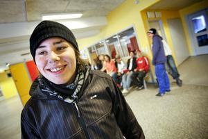 David Jundén var en av hundratusentals ungdomar som i går testade sina kunskaper.