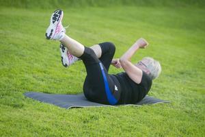 Hela kroppen tränas igenom under en timme.