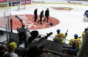 Isfiaskot i ABB Arena i Västerås.