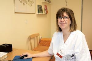 Agneta Holtz, överläkare på barnmottagningen vid Västmanlands sjukhus Västerås.
