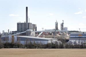 Flishögarna på sågen i Iggesund växer sig högre för var dag som strejken pågår, eftersom flisen inte längre kan levereras till pappersbruket.