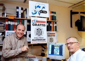 Direktrapportering och snabba resultat prioriterades på ST online. Per-Roger Carlsson och Tommy Klaar firade GIF Sundsvall.
