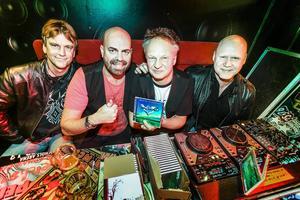 Thomas Drevin, Anders Engberg, Mats Karlsson och Peter Hermansson var i stan i lördags för att promota nya skivan.