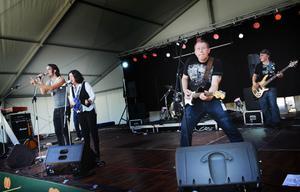 Gävlebandet Python var tillsammans med One Ball Band de två banden som underhåll under onsdagen på Rånock.