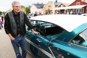 Roland Herrin vann veteranbilstävlingen med en Cheva från 1958.