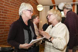 Diskussionen fortsatte efter mötet, Ann-Marie Johansson (S) från landstingsstyrelsen och Anita Nordén som kommit till mötet för att föra fram sina åsikter om förslaget.