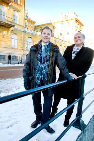 Nya hotellägare? Anders Junger, vd för hotellkedjan Winn, och Torsten Engwall, styrelseordförande, är rejält sugna på att få driva hotell i Gamla Grand.