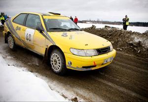 Janne Hellgren/Jan Strandberg, JMK, körde en Saab 41520.