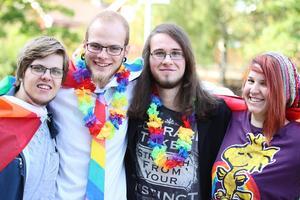 Leo Blomkvist, 21, från Linköping, Pontus Lindström, 20, från Ludvika, Viktor Holmberg, 19, från Ludvika och Isabelle Svensson, 20, från Ludvika.
