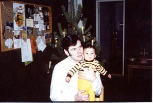 Pappa Bosse med sin älskade son. Daniel var ett efterlängtat barn när han kom till familjen Gustavsson 1976