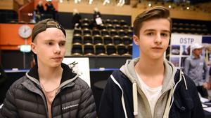 Linus Hietanen och Viktor Fliesberg från Sollefteå.