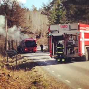Bussbrand på Barnens ö.