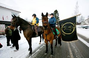 Ryttare och hästar från Ramsele ridskola gick i täten.