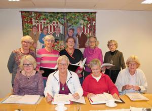 Sånggruppen är en del av gemenskapen inom pensionärsföreningen PRO City.