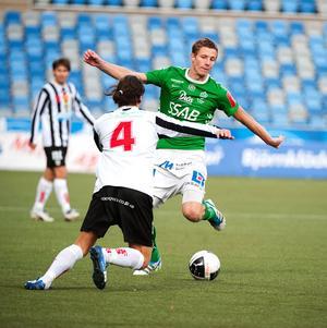 Johan Eklund under sin senaste säsong i Brage, 2011.