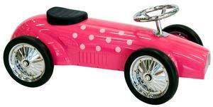 Blickfång. Lika fin att titta på som rolig att leka med är den läckert ceriserosa bilen från Jabadabado. Bilen finns även i limegrönt och turkost. Cirkapriset i butik ligger på 999 kronor.