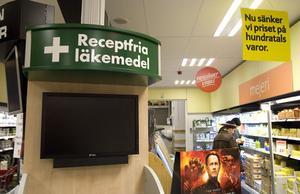 Så här kan självbetjäningskioskerna där du kan handla läkemedel i butik se ut.