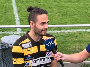 Sebastian Avdic avgjorde toppmötet mellan Skiljebo och Karlslund med matchens enda mål.