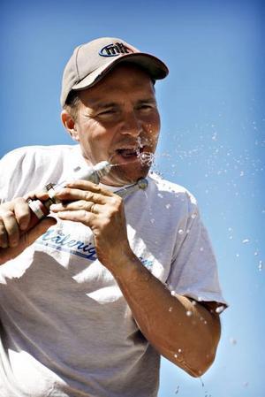 Vatten är människans bästa vän tycker Håkan Larsson.