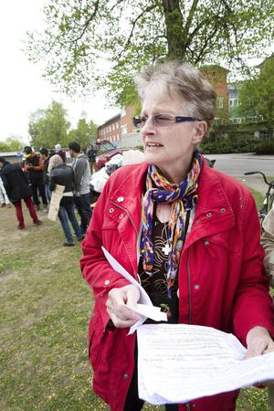 Maud Lindgren, ordförande för Asylkommittén Gävleborg.