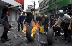Oroligheterna i den Thailändska huvudstaden ökar dag för dag.