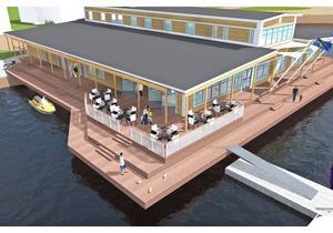 Ett hotell med tjugotal rum, restaurang och gästhamn vill Per Svedberg bygga på den gamla industrikajen på Varvet.