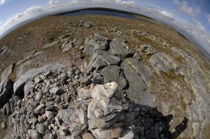 Dalarnas högsta toppröse finns på Storvätteshågnas 1204 meter höga topp med Svantesontjärnen strax intill.