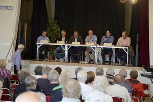 PRO City bjöd in stadens politiker till utfrågning i Selångers Folkets Hus i går.