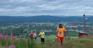 Den första toppen som deltagarna passerade var Gårdtjärnsberget där de möttes av denna fantastiska utsikt.