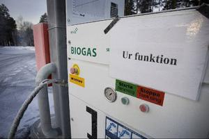 Biogaspumpen vid reningsverket i Göviken. arkivbild