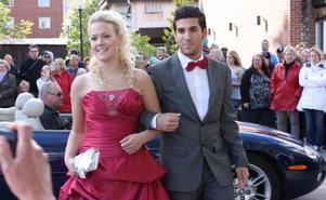 Johanna Haglund och Alan Nouri gick på årets studentbal.
