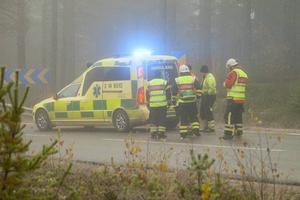 Föraren fördes till hälsocentralen i Sveg för kontroll.