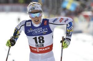 Stina Nilsson - avslutar för Sverige i stafetten.