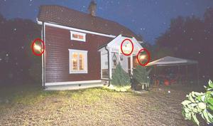 När kriminaltekniker anlände till Granliden vid 04-tiden den 4 augusti var det mörkt och regnade. På boningshuset var tre ytterlampor tända.
