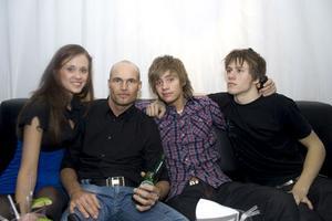 Pluto Alexandra, Eddie, Adam och Mackan.
