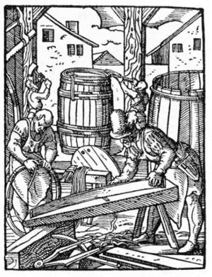 Gamla tiders tunnbindare gjorde trätunnor och andra laggkärl. Samma hantverksteknik används fortfarande av bland andra Gävlebon Ralf Sikström.