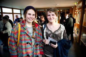 Agnes Tibbling Lingwall och Vendela Olsson tror inte att många andra högstadieelever känner till Orkesterföreningen.