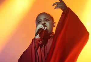 Seinabo Sey är nominerad för både Årets album och som Årets artist. Arkivbild.   Foto: Henrik Montgomery/TT
