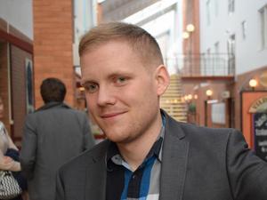 Tom Edoff, ordförande i Dalarnas Studentkår.