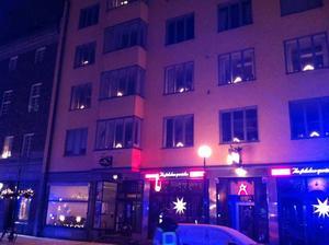 Stort pådrag – men ingen eldsvåda på Storgatan i Sundsvall.