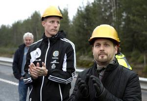 Johan Eklund, GIF Sundsvall, och oppositionsrådet Jörgen Berglund.