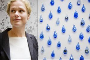 Nilla Eneroths har utsmyckat nya sjukhusentrén vid Fältjägargränd.