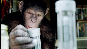 """Andy Serkis får hjälp av modern teknik för att gestalta den smarta chimpansen Caesar i """"Apornas planet: (R)evolution""""."""