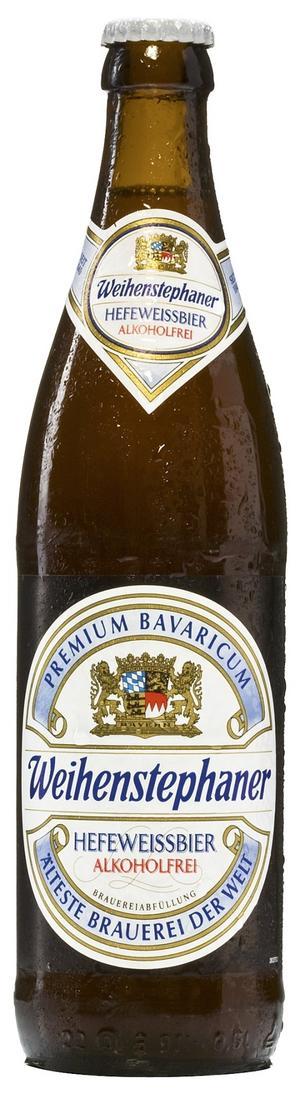 Weihenstephaner Hefeweissbier, en alkoholfri och sommarvänlig öl.
