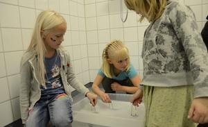 Kreativitet. Kulturverkstaden inom Hällefors kulturskola ska ge barn 6-8 år chans att hitta nya språk att uttrycka sig på. Utgångspunkten är en saga. Här skapar Ebba Skoog, Maja Gustavsson och Elvira Östlund varsin ullboll.